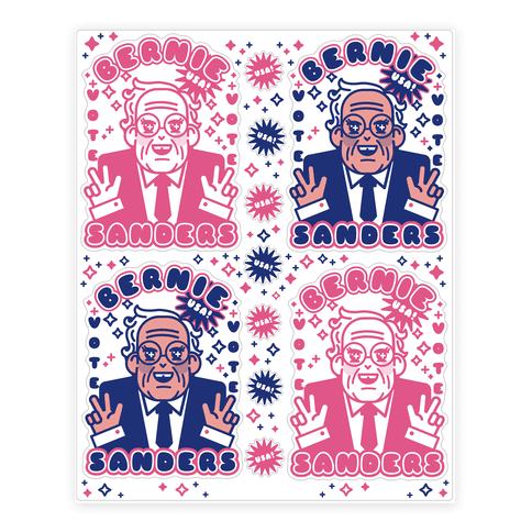Anime Bernie  Sticker/Decal Sheet