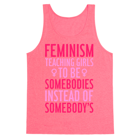 Feminism: Teaching Girls Tank Top
