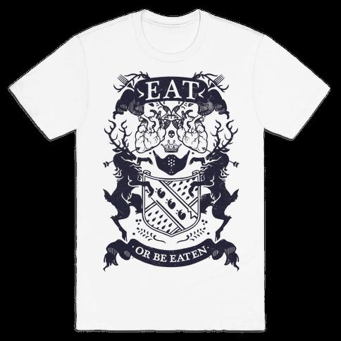 Eat Or Be Eaten Mens T-Shirt