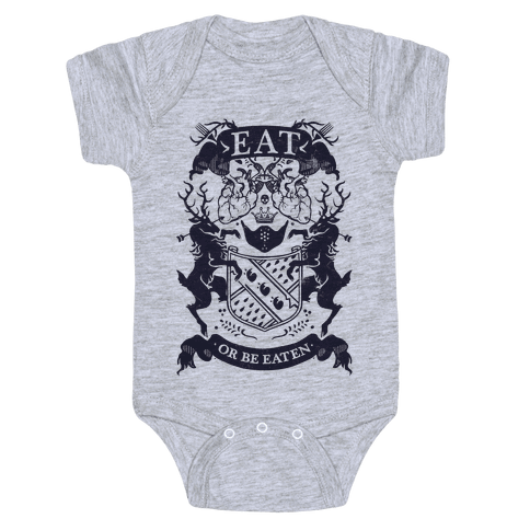 Eat Or Be Eaten Baby Onesy