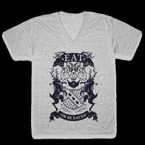 Eat Or Be Eaten V-Neck Tee Shirt