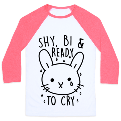 Shy Bi and Ready to Cry Baseball Tee