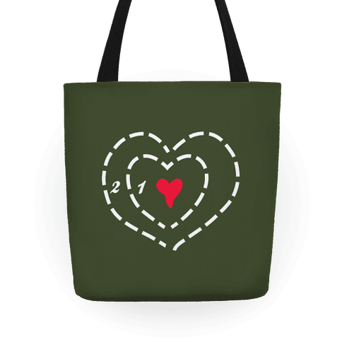 A Heart Two Sizes Too Small Tote Tote
