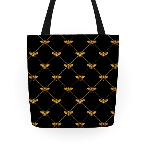 Regal Golden Honeybee Pattern Tote