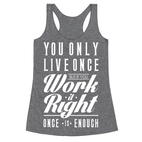 Work It Right Racerback Tank Top