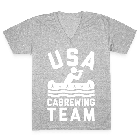 USA Cabrewing Team V-Neck Tee Shirt