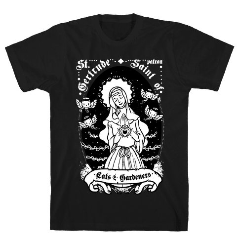 Saint Gertrude of Cats Mens T-Shirt