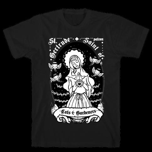 Saint Gertrude of Cats Mens T-Shirt