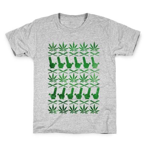 Weed Pattern Kids T-Shirt