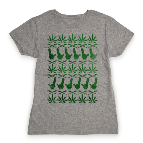 Weed Pattern  Womens T-Shirt