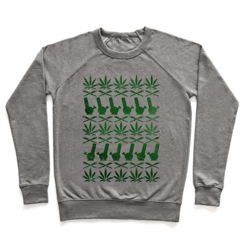 Weed Pattern  Pullover