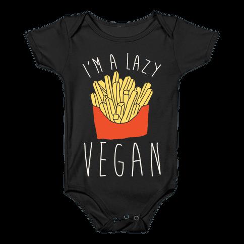 Lazy Vegan Baby Onesy