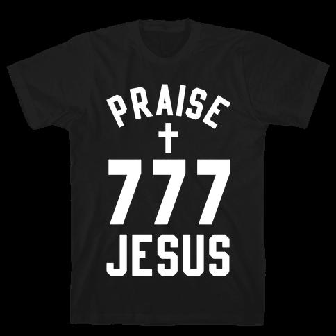 Praise Jesus 777 Mens T-Shirt