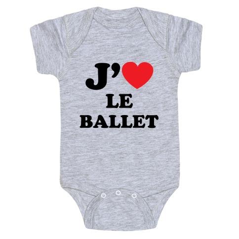 J'aime Le Ballet Baby Onesy
