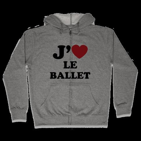 J'aime Le Ballet Zip Hoodie