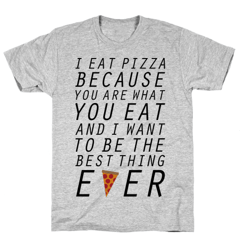 I Eat Pizza Mens T-Shirt