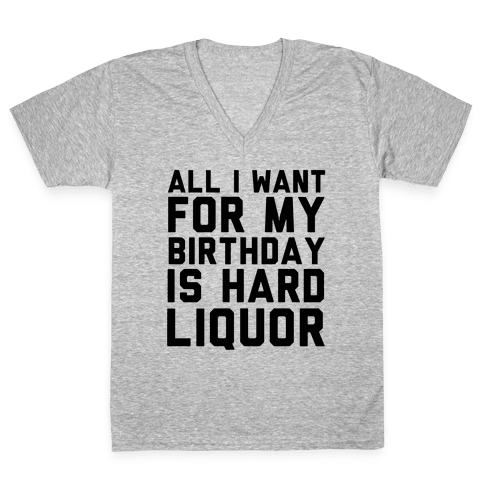 All I Want for My Birthday V-Neck Tee Shirt