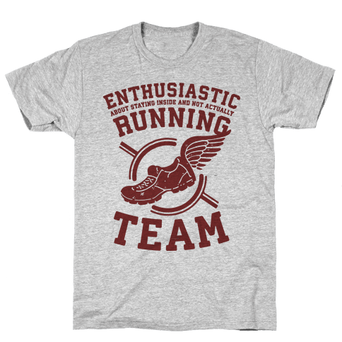 Enthusiastic Running Team Mens T-Shirt