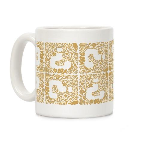 Floral Question Block Coffee Mug