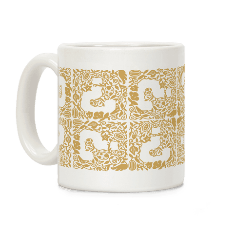 Floral Question Block Coffee Mug