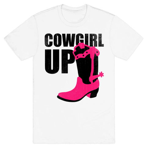 Cowgirl Up (Tank) Mens T-Shirt