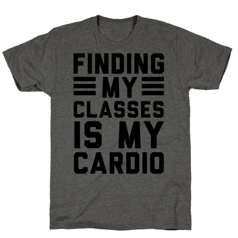 Finding My Classes Is My Cardio