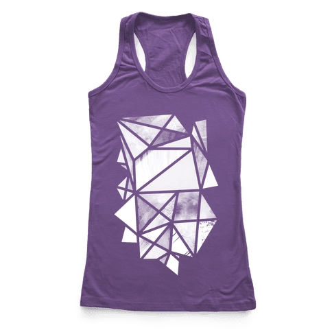 Geometric Collage Racerback Tank Top