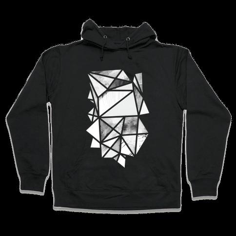 Geometric Collage Hooded Sweatshirt