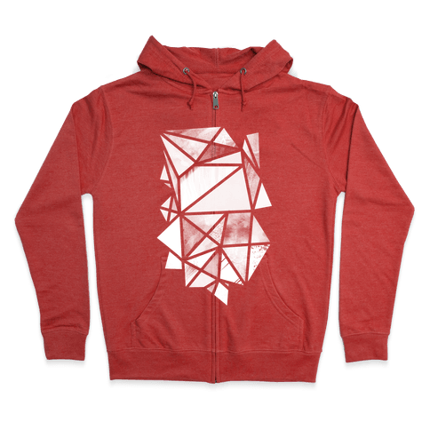 Geometric Collage Zip Hoodie