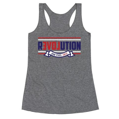 Libertarian American Revolution Racerback Tank Top