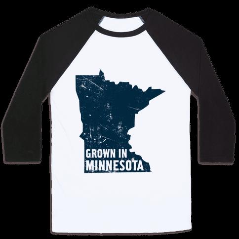 Grown in Minnesota Baseball Tee