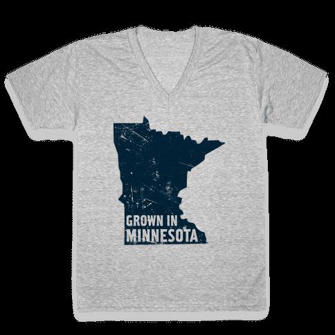 Grown in Minnesota V-Neck Tee Shirt