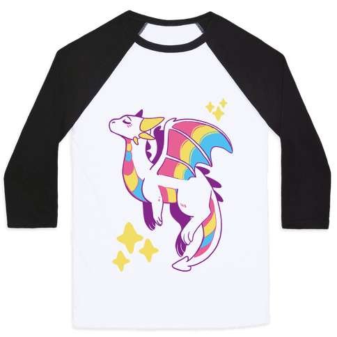 Pan Pride Dragon Baseball Tee