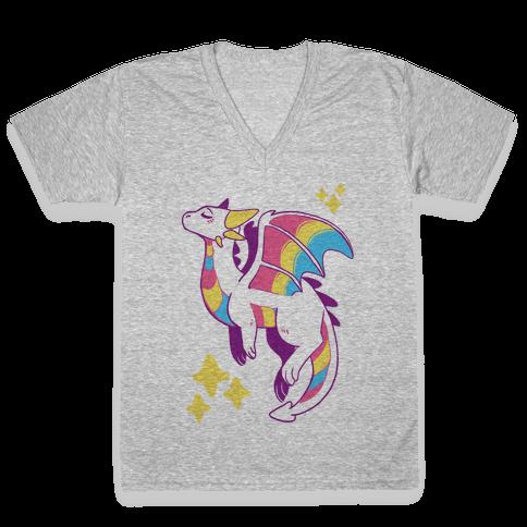 Pan Pride Dragon V-Neck Tee Shirt
