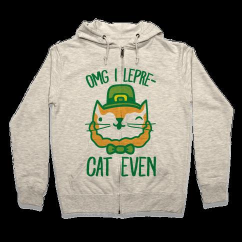 OMG I Lepre-Cat Even Zip Hoodie