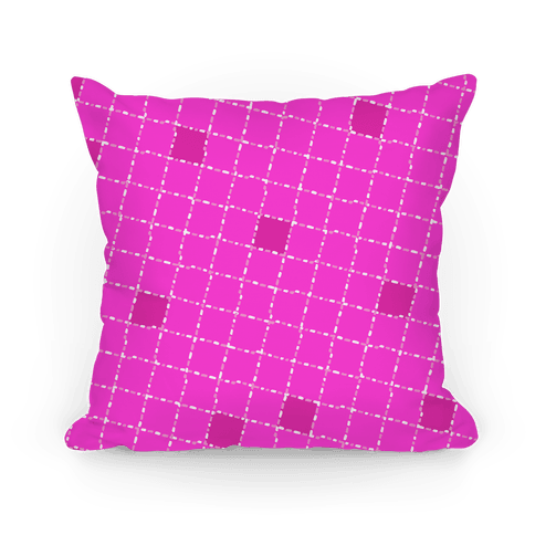 Pink Dashed Checkers Pattern
