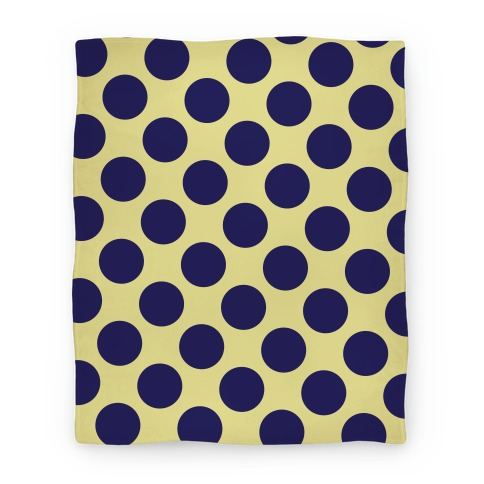 Navy Polka Dot Blanket Blanket