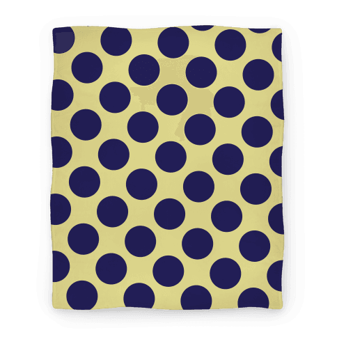Navy Polka Dot Blanket