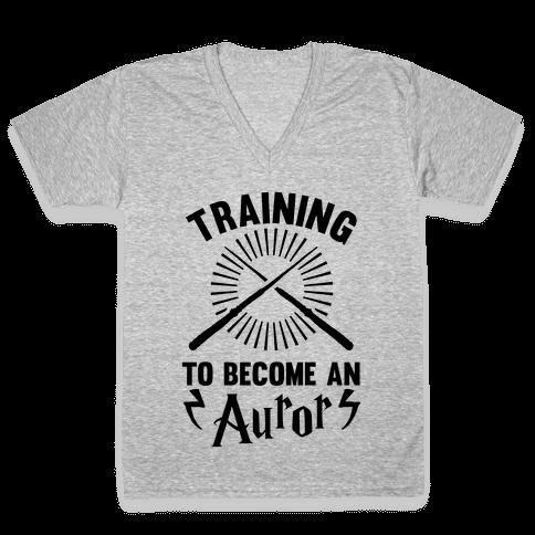 Training To Become An Auror V-Neck Tee Shirt