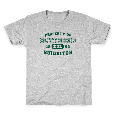 Slytherin Quidditch Athletics Kids T-Shirt