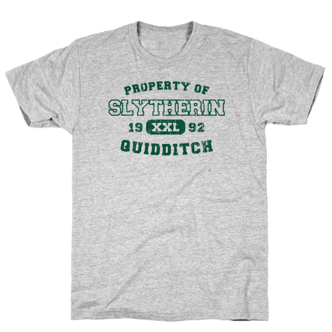 Slytherin Quidditch Athletics Mens T-Shirt
