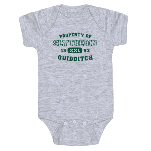 Slytherin Quidditch Athletics Baby Onesy