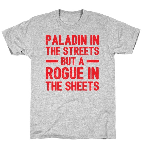 Paladin In The Streets But A Rogue In The Sheets T-Shirt