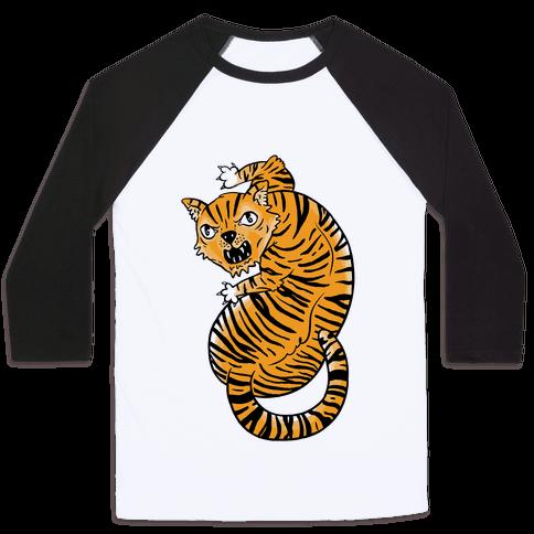 The Ferocious Tiger Baseball Tee