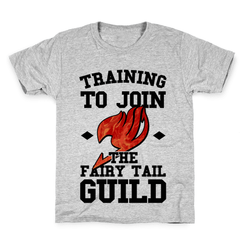 Training to Join the Fairy Tail Guild Kids T-Shirt