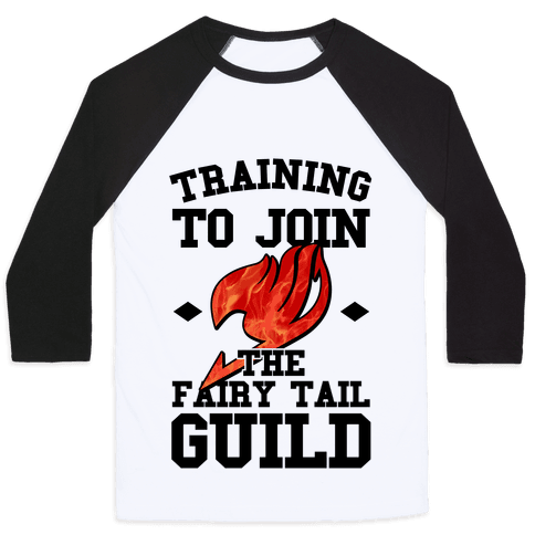 Training to Join the Fairy Tail Guild Baseball Tee
