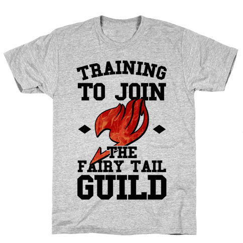 Training to Join the Fairy Tail Guild Mens T-Shirt