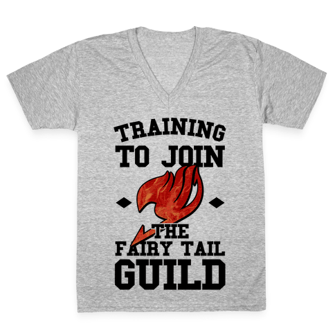 Training to Join the Fairy Tail Guild V-Neck Tee Shirt