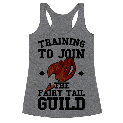 Training to Join the Fairy Tail Guild Racerback Tank Top