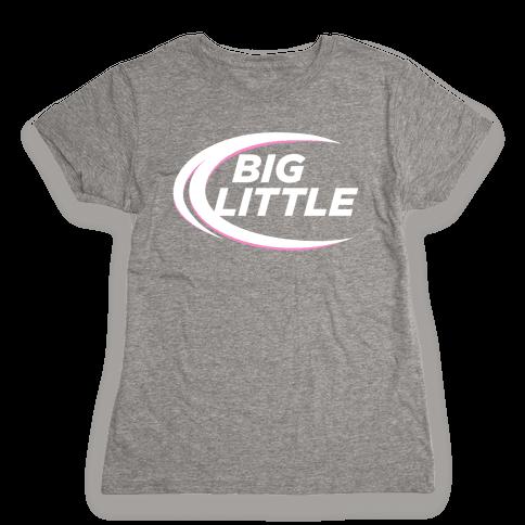 Big Little (Beer Parody Dark) Womens T-Shirt